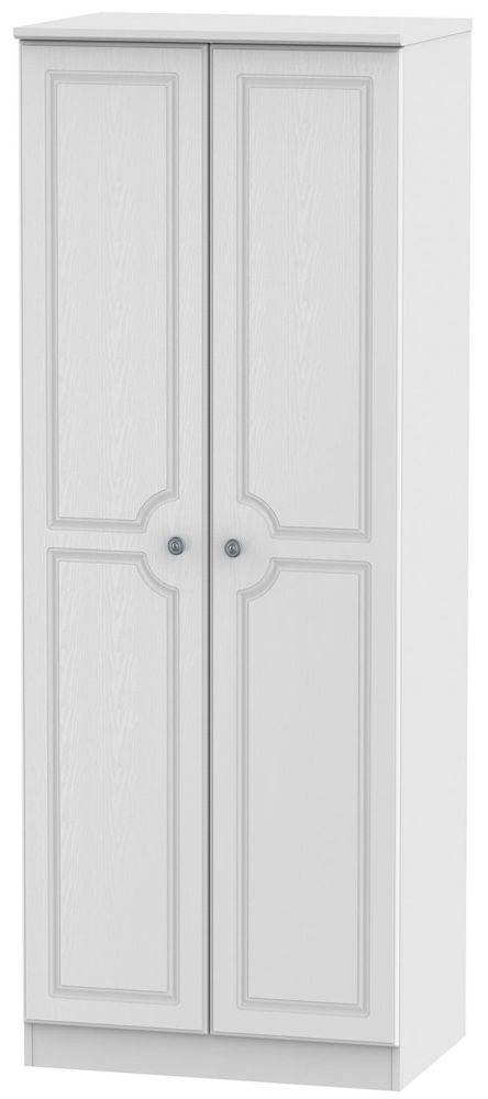 Pembroke White 2 Door Tall Hanging Wardrobe