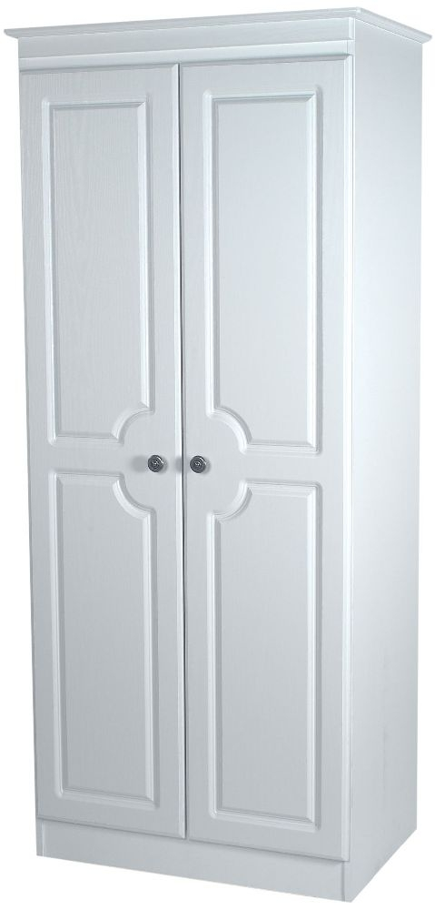 Pembroke White Wardrobe - Tall 2ft6in Plain
