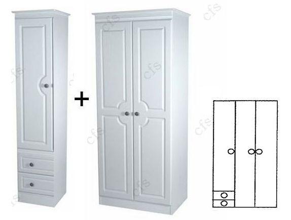 Pembroke 3 Door Wardrobe with 2 Drawer