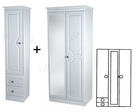 Pembroke 3 Door Wardrobe with Mirror and Drawer