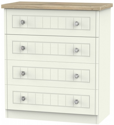 Rome 4 Drawer Chest - Bordeaux Oak and Cream Ash
