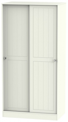 Rome 2 Door Sliding Wardrobe - Bordeaux Oak and Cream Ash