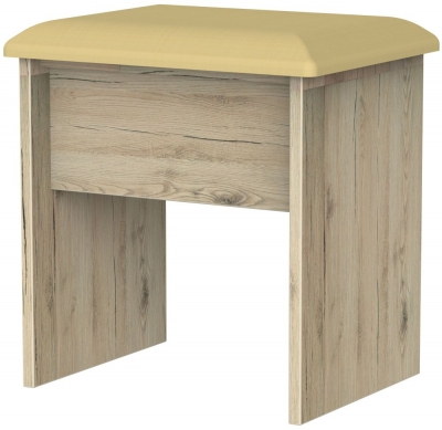 Rome Bordeaux Oak Stool