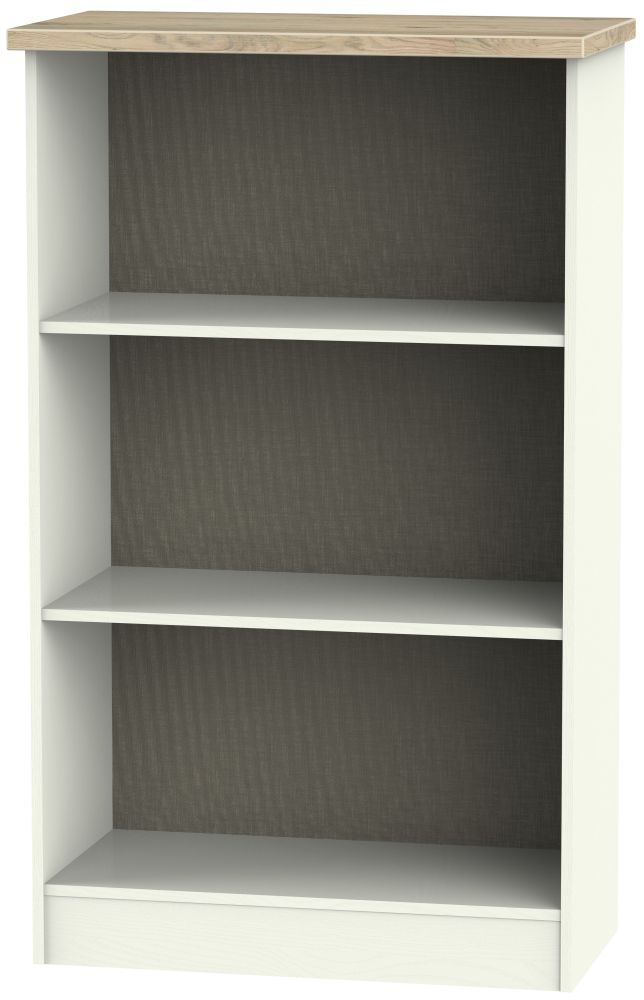 Rome Bookcase - Bordeaux Oak and Cream Ash