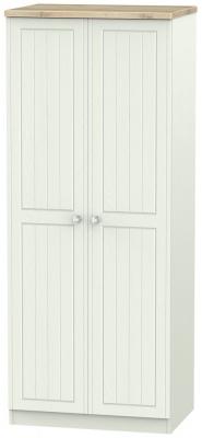 Rome 2 Door Wardrobe - Bordeaux Oak and Kaschmir Ash