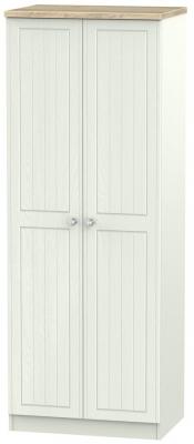 Rome 2 Door Tall Wardrobe - Bordeaux Oak and Kaschmir Ash