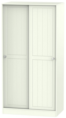 Rome 2 Door Sliding Wardrobe - Bordeaux Oak and Porcelain Ash