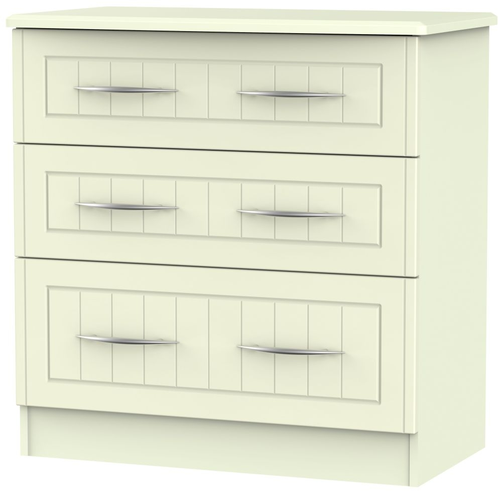 San Francisco Bay Cream Chest of Drawer - 3 Drawer Deep