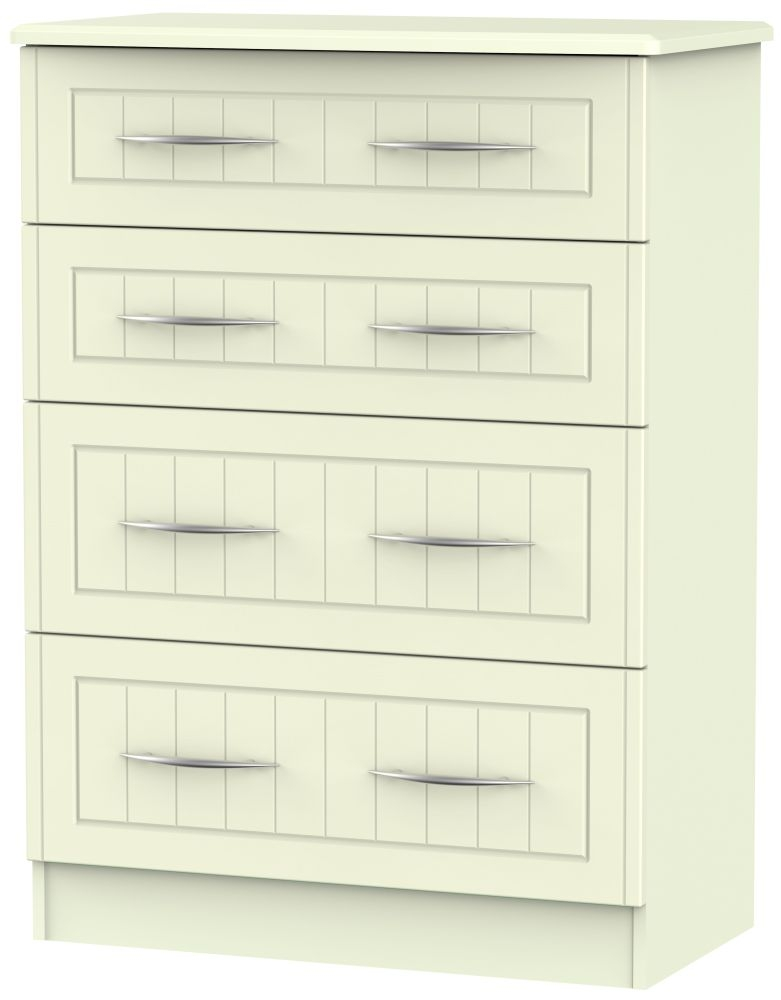 San Francisco Bay Cream Chest of Drawer - 4 Drawer Deep