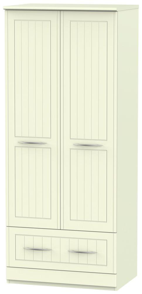 San Francisco Bay Cream Wardrobe - 2ft 6in 2 Drawer