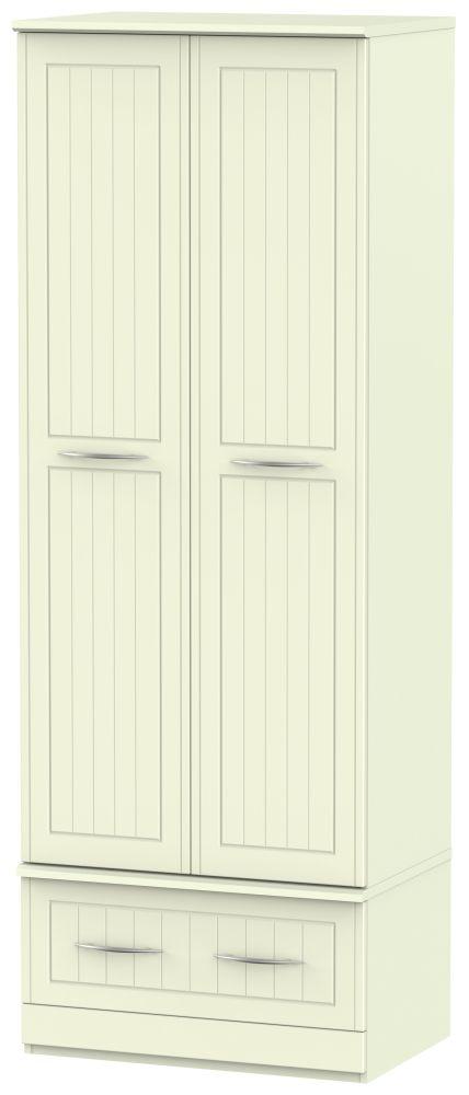 San Francisco Bay Cream Wardrobe - Double Box with Double Hanging