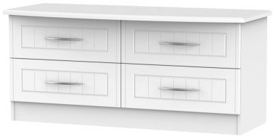San Francisco Bay White Bed Box - 4 Drawer