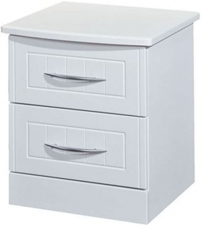 San Francisco Bay White Bedside Cabinet - 2 Drawer