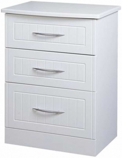 San Francisco Bay White Chest of Drawer - 3 Drawer Midi