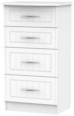San Francisco Bay White Chest of Drawer - 4 Drawer Deep Midi