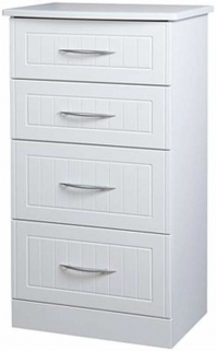 San Francisco Bay White Chest of Drawer - 4 Drawer Midi