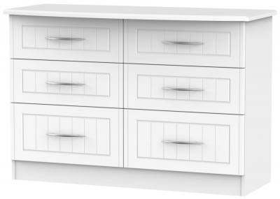 San Francisco Bay White Chest of Drawer - 6 Drawer Midi