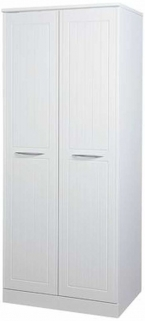 San Francisco Bay White Wardrobe - Double Plain