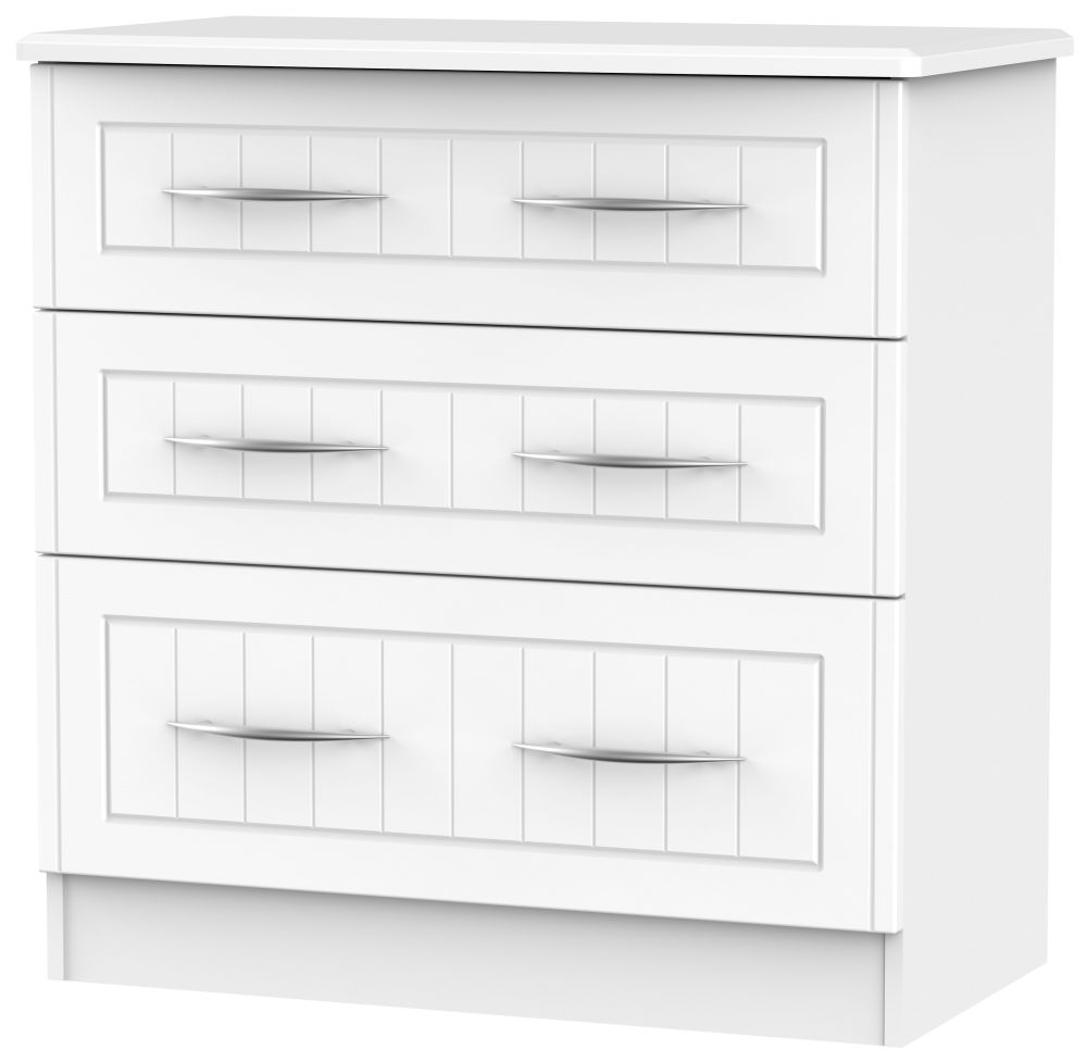 San Francisco Bay White Chest of Drawer - 3 Drawer Deep