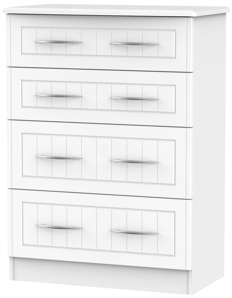 San Francisco Bay White Chest of Drawer - 4 Drawer Deep