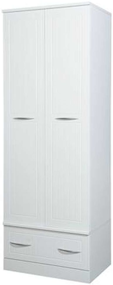 San Francisco Bay White Wardrobe - Double Box with Double Hanging