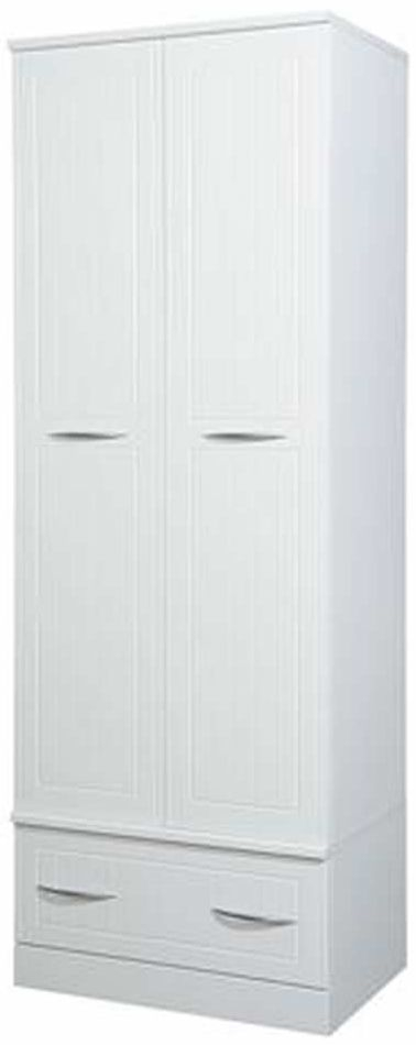 San Francisco Bay White Wardrobe - Double with Drawer
