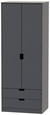 Shanghai Graphite 2 Door 2 Drawer Wardrobe