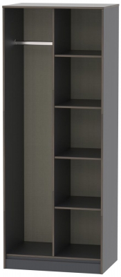 Shanghai Graphite Open Shelf Wardrobe