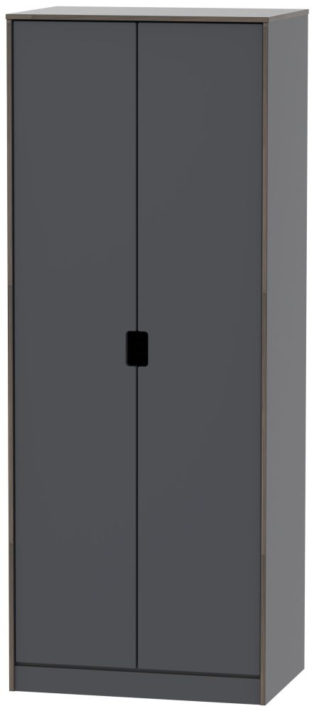 Shanghai Graphite 2 Door Wardrobe