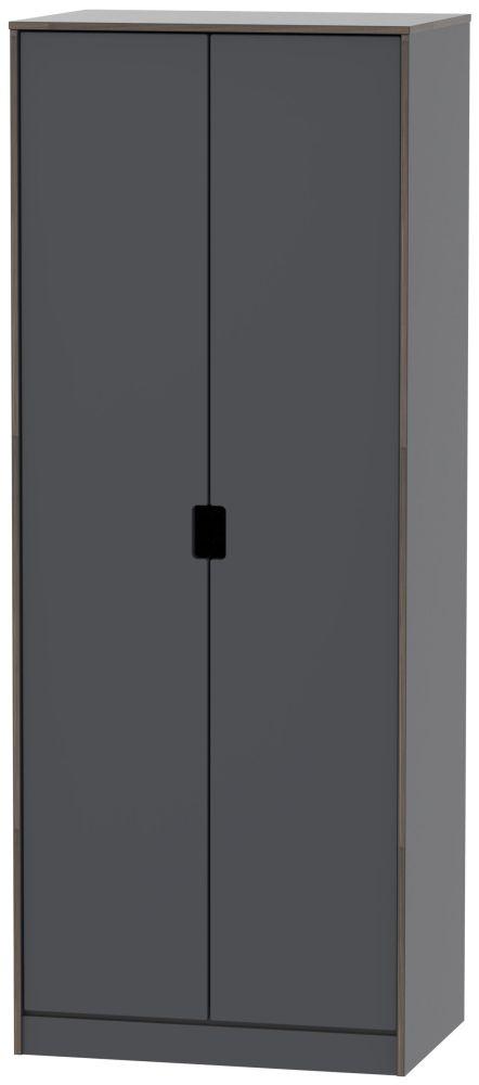 Shanghai Graphite 2 Door Wardrobe