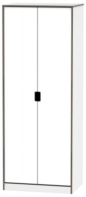 Shanghai High Gloss White 2 Door Wardrobe