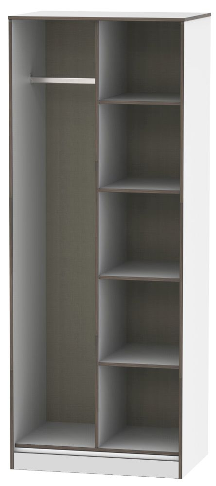 Shanghai White Open Shelf Wardrobe