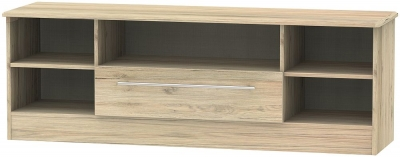 Sherwood Bordeaux Oak 1 Drawer Wide Open TV Unit