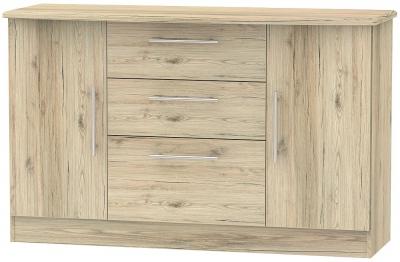 Sherwood Bordeaux Oak 2 Door 3 Drawer Sideboard