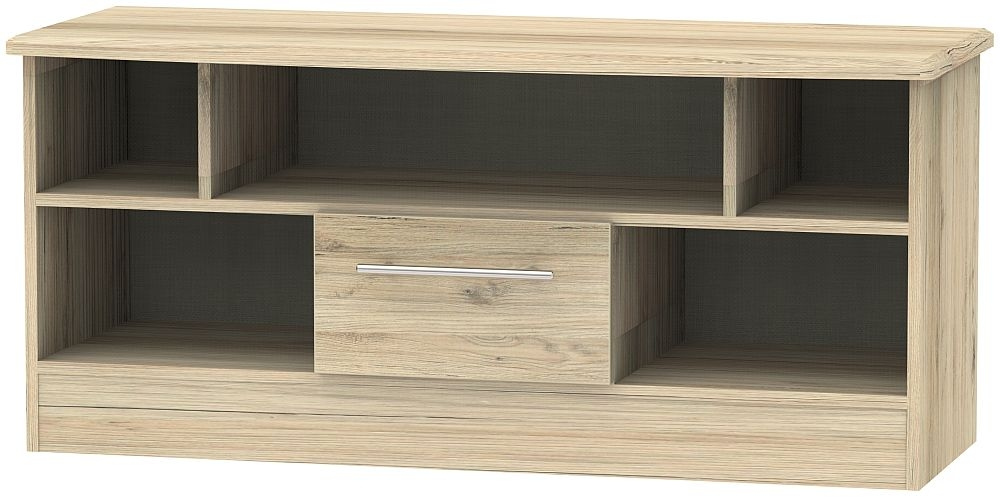 Sherwood Bordeaux Oak 1 Drawer Open TV Unit