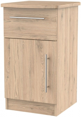 Sherwood Bordeaux Oak 1 Door 1 Drawer Cabinet