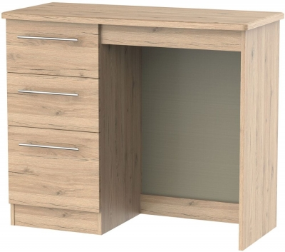 Sherwood Bordeaux Oak Dressing Table - Vanity Knee Hole