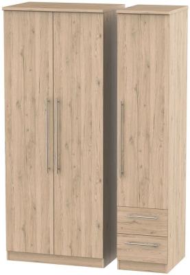 Sherwood Bordeaux Oak 3 Door 2 Right Drawer Wardrobe