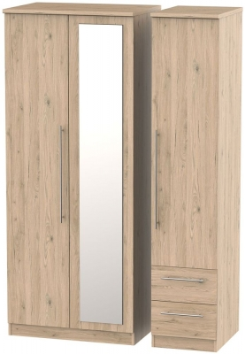 Sherwood Bordeaux Oak 3 Door 2 Drawer Combi Wardrobe