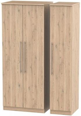 Sherwood Bordeaux Oak 3 Door Wardrobe
