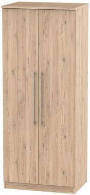 Sherwood Bordeaux Oak Wardrobe - 2ft 6in with Plain