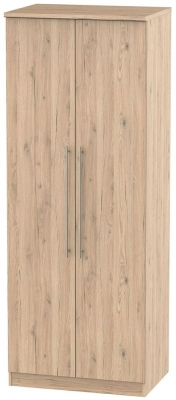 Sherwood Bordeaux Oak Wardrobe - Tall 2ft 6in with Double Hanging