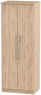 Sherwood Bordeaux Oak 2 Door Tall Wardrobe