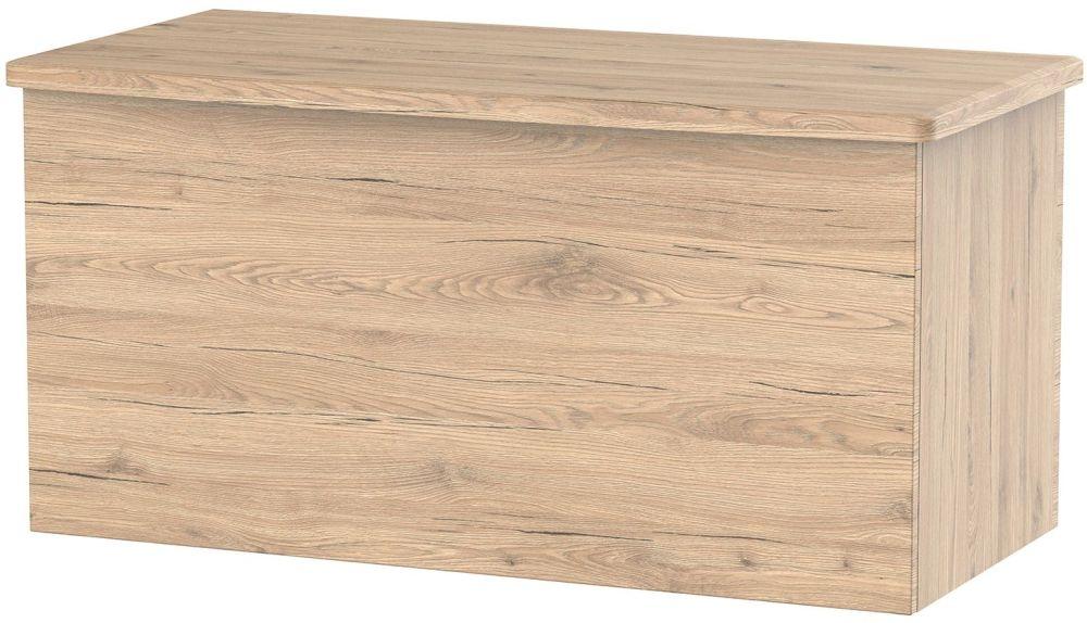 Sherwood Bordeaux Oak Blanket Box