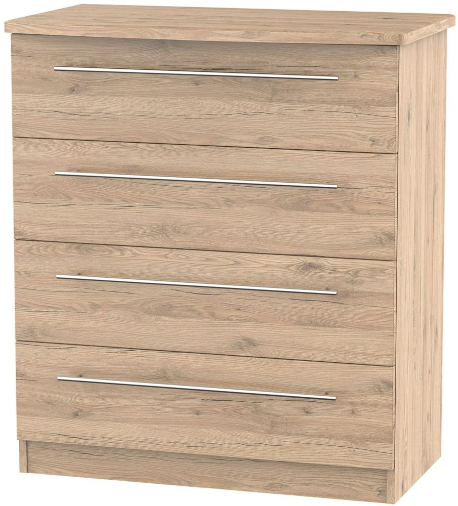 Sherwood Bordeaux Oak 4 Drawer Chest