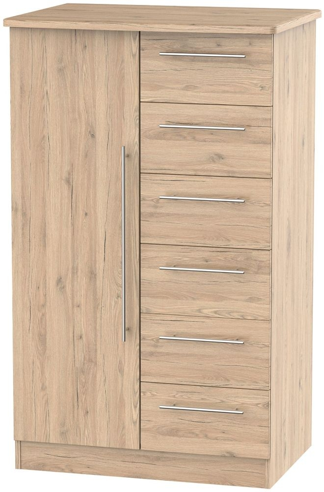 Sherwood Bordeaux Oak 1 Door Children Wardrobe