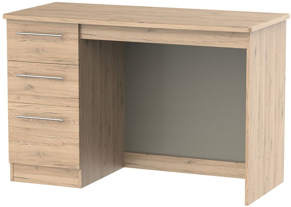 Sherwood Bordeaux Oak Desk - 3 Drawer