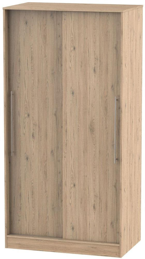 Sherwood Bordeaux Oak 2 Door Wide Sliding Wardrobe