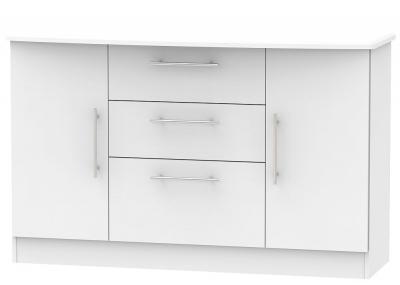 Sherwood Grey Matt 2 Door 3 Drawer Sideboard