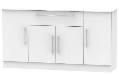 Sherwood Grey Matt 4 Door 1 Drawer Wide Sideboard